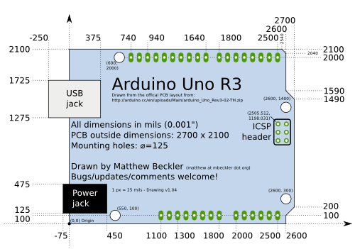 arduino uno drawing